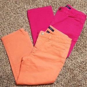 Lot of 2 Chaps Capri jeans Size 2